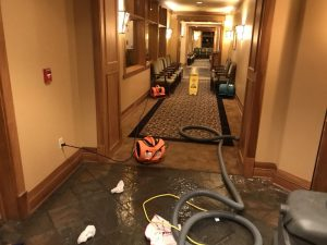 Water Damage Restoration In A Commercial Building