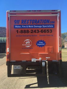 Mold Remediation Truck Headed To A Job Site